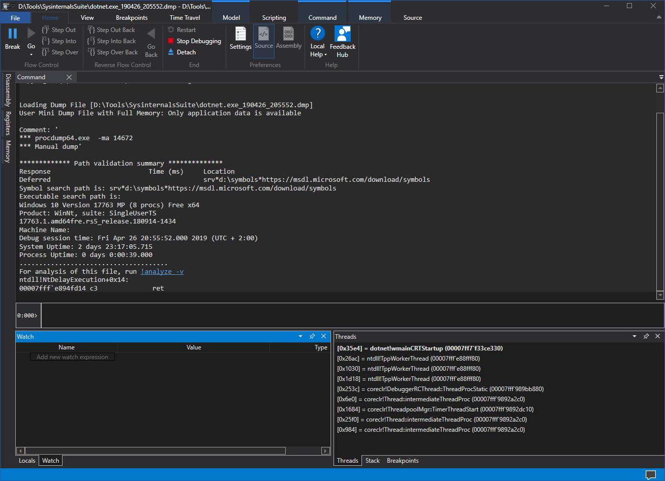WinDbg Cheat Sheet for  NET Developers · stef's blog